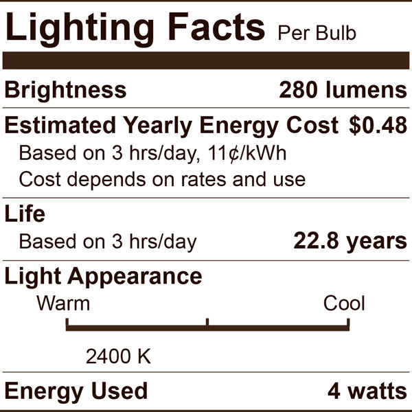 LED Chandelier Bulb - Color Matched For Incandescent Replacement Image