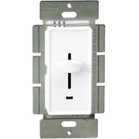 Incandescent / Halogen Dimmer - 3-Way - White - 700 Watt Maximum - Slide Switch - 120 Volt - Enerlites 50301-W