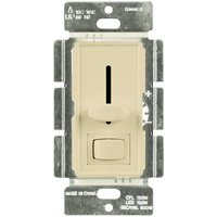 Ivory - CFL/ LED Dimmer - 3-Way/ Single Pole - Rocker and Slide Switch - 150 Watt Max
