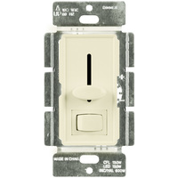 Light Almond - CFL/ LED Dimmer - 3-Way/ Single Pole - Rocker and Slide Switch - 150 Watt Max