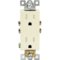 15 Amp - Decorator Duplex Receptacle - Tamper Resistant - Light Almond - 125 Volt