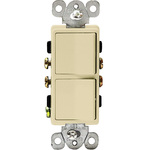 Ivory - 15 Amp Max. - Decorator Double Switch Image