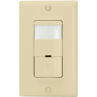 Ivory - Passive Infrared (PIR) Occupancy and Vacancy Sensor - 800W Max. - 120/277 Volt - Secured Ground Wire Required