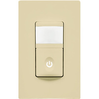 Ivory - Passive Infrared (PIR) Occupancy and Vacancy Sensor - 500W Max - 120 Volt - Neutral Required