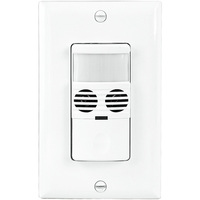 White - Passive Infrared (PIR)/ Ultrasonic Occupancy and Vacancy Sensor - 800W Max - 120/277 Volt - Neutral Required