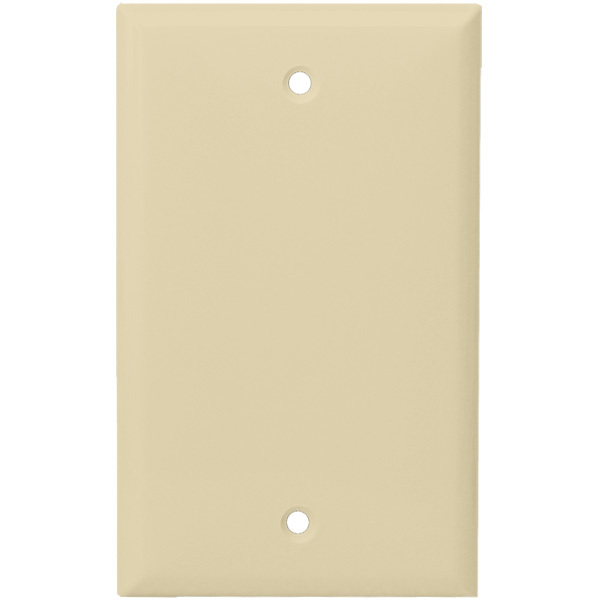 Blank Wall Plate - Ivory - 1 Gang Image