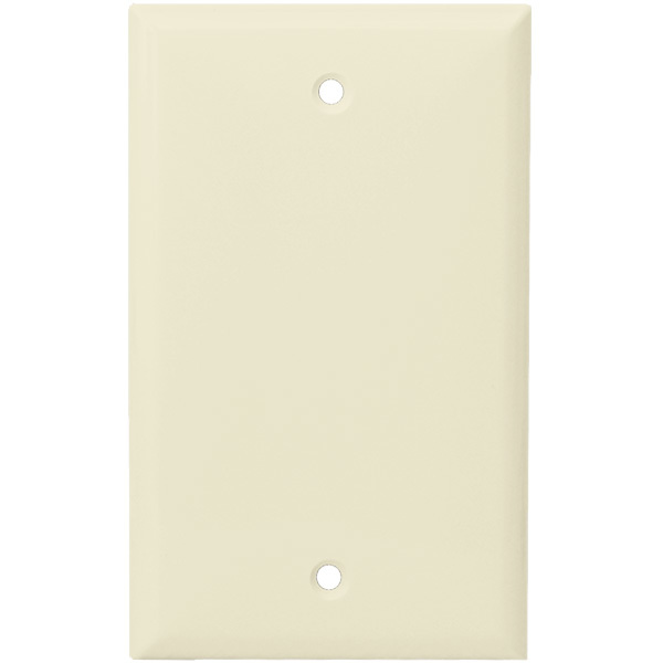 Blank Wall Plate - Light Almond - 1 Gang Image