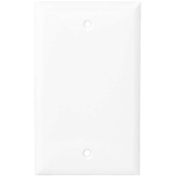 Blank Wall Plate - White - 1 Gang Image