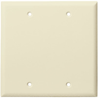 Light Almond - 2 Gang - Blank Wall Plate - Enerlites 8802-LA