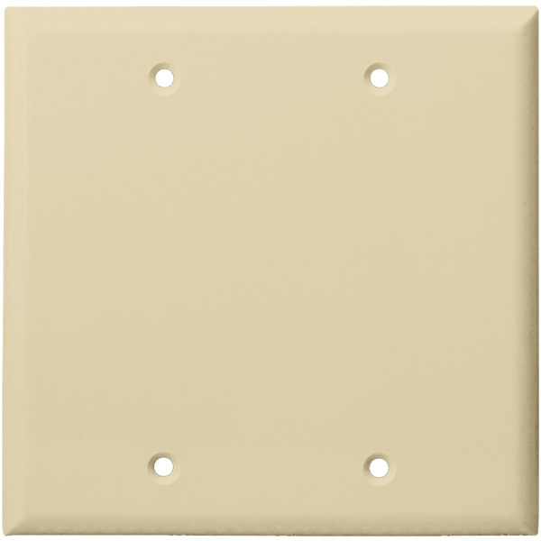 Blank Wall Plate - Ivory - 2 Gang Image