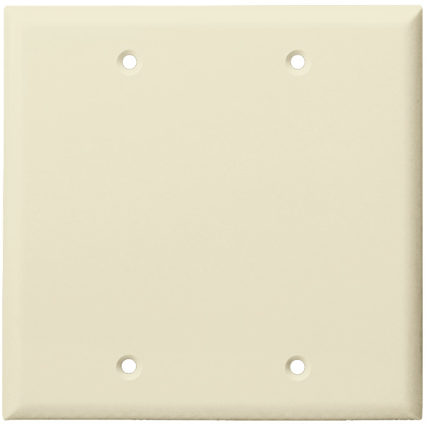 Blank Wall Plate - Light Almond - 2 Gang Image
