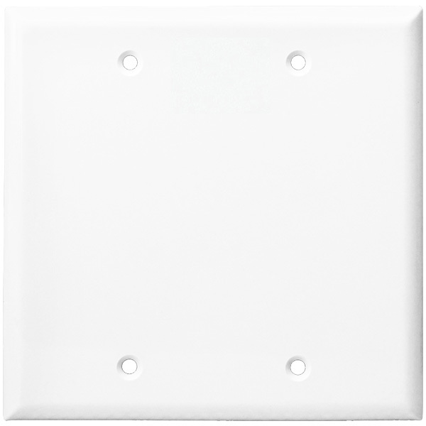 Blank Wall Plate - White - 2 Gang Image