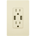 USB Dual Charger Receptacle - Light Almond Image