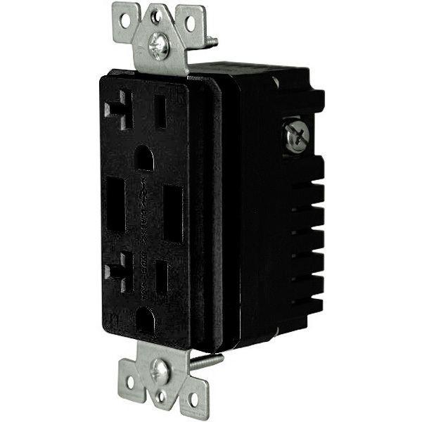 USB Dual Charger Receptacle - Black Image