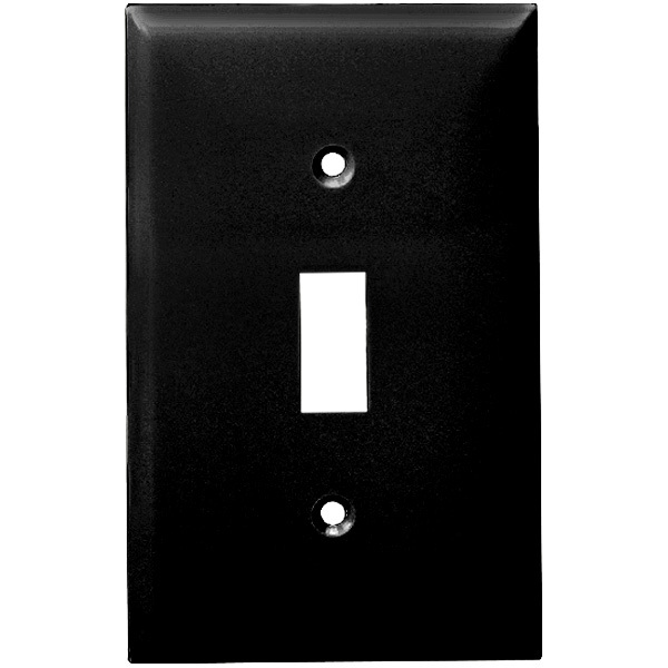 Toggle Wall Plate - Black - 1 Gang Image