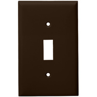 Brown - 1 Gang - Toggle Wall Plate - Enerlites 8811-BR
