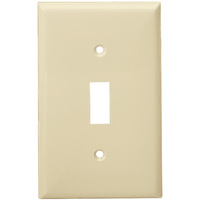 Ivory - 1 Gang - Toggle Wall Plate - Enerlites 8811-I