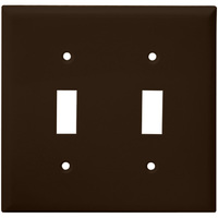 Brown - 2 Gang - Toggle Wall Plate - Enerlites 8812-BR