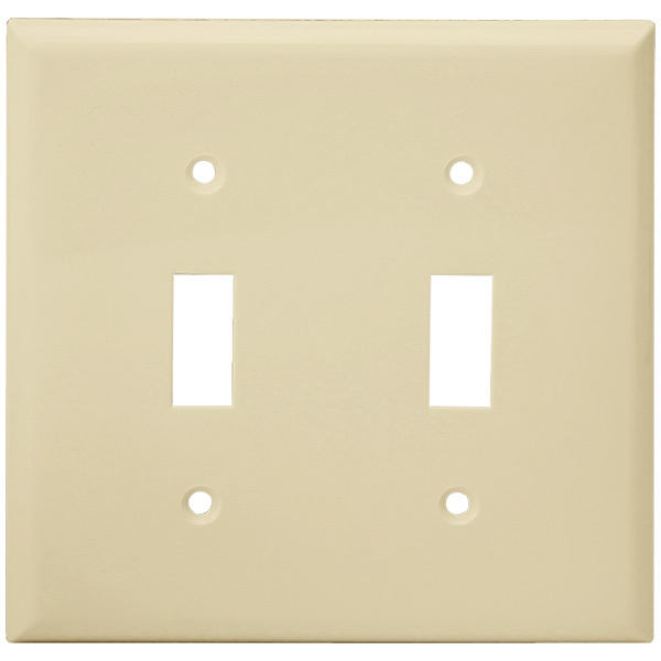 Toggle Wall Plate - Ivory - 2 Gang Image