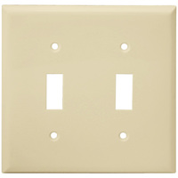 Ivory - 2 Gang - Toggle Wall Plate - Enerlites 8812-I