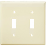 Toggle Wall Plate - Light Almond - 2 Gang Image