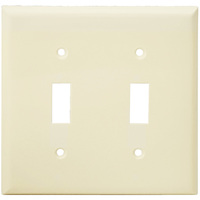 Light Almond - 2 Gang - Toggle Wall Plate - Enerlites 8812-LA