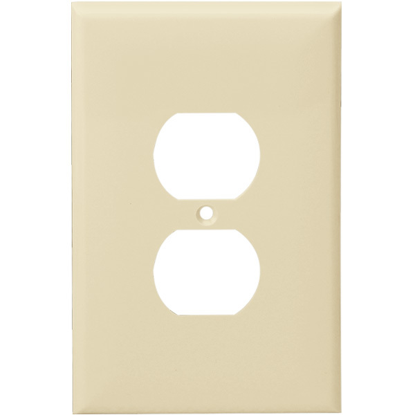 Duplex Receptacle Wall Plate - Ivory - 1 Gang Image