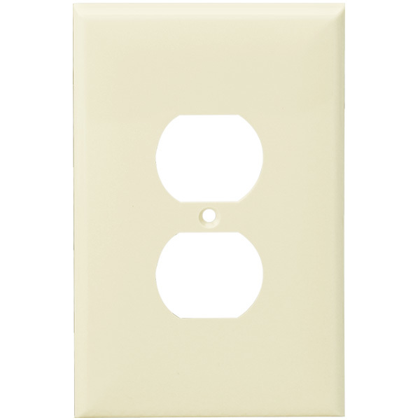 Duplex Receptacle Wall Plate - Light Almond - 1 Gang Image