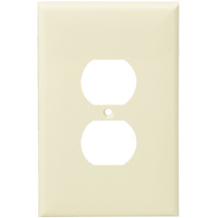 Light Almond - 1 Gang - Mid Size - Duplex Receptacle Wall Plate - Enerlites 8821M-LA