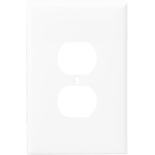 Duplex Receptacle Wall Plate - White - 1 Gang Image