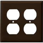 Duplex Receptacle Wall Plate - Brown - 2 Gang Image