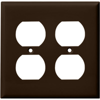 Duplex Receptacle Wall Plate - Brown - 2 Gang - Enerlites 8822-BR