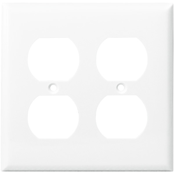 Duplex Receptacle Wall Plate - White - 2 Gang Image