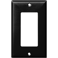 Black - 1 Gang - Decorator Wall Plate - Enerlites 8831-BK