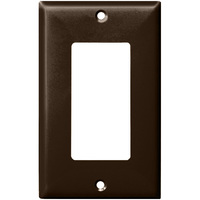 Brown - 1 Gang - Decorator Wall Plate - Enerlites 8831-BR