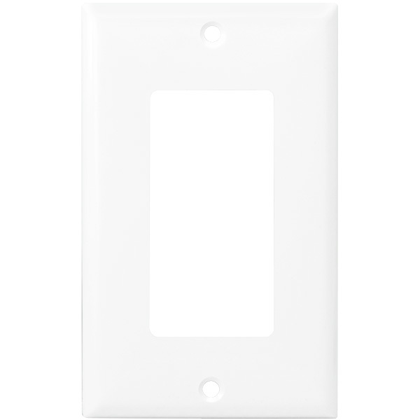 Decorator Wall Plate - White - 1 Gang Image  sc 1 st  1000Bulbs.com & Enerlites 8831-W - Decorator 1 Gang Wall Plate
