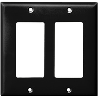 Black - 2 Gang - Decorator Wall Plate - Enerlites 8832-BK