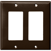 Brown - 2 Gang - Decorator Wall Plate - Enerlites 8832-BR