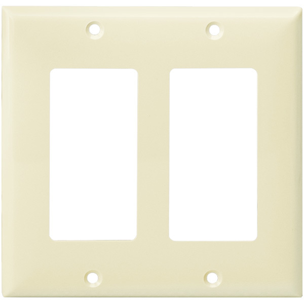 Decorator Wall Plate - Light Almond - 2 Gang Image