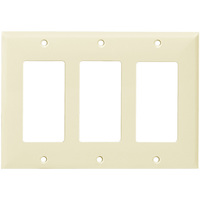 Light Almond - 3 Gang - Decorator Wall Plate - Enerlites 8833-LA