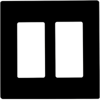Black - Screwless - 2 Gang - Decorator Wall Plate - Enerlites SI8832-BK