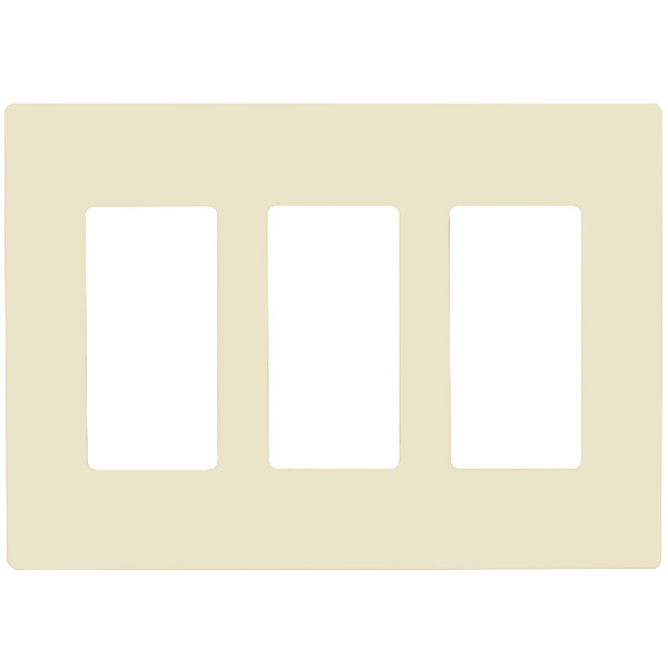 Decorator Wall Plate - Light Almond - 3 Gang Image
