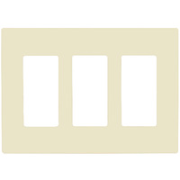 Light Almond - Screwless - 3 Gang - Decorator Wall Plate - Enerlites SI8833-LA