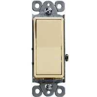 Ivory - 15 Amp Max. - Decorator Switch - Single Pole - Paddle - 120/277 Volt