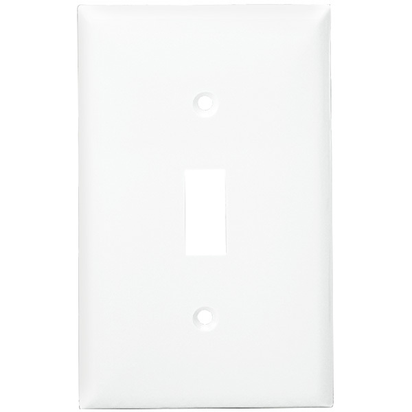 Toggle Wall Plate - White - 1 Gang Image