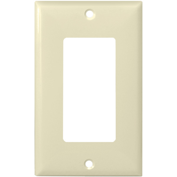 Decorator Wall Plate - Almond - 1 Gang Image