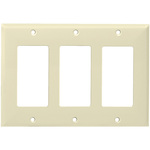 Decorator Wall Plate - Almond - 3 Gang Image