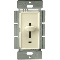 Almond - Incandescent/ Halogen Dimmer - 3-Way - Slide Switch - 700 Watt Max