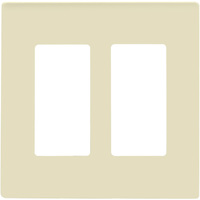 Almond - Screwless - 2 Gang -  Decorator Wall Plate - Enerlites SI8832-A