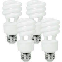 Spiral CFL - 13 Watt - 60W Equal - 5000K Full Spectrum - 84 CRI - 69 Lumens per Watt - 4 Pack